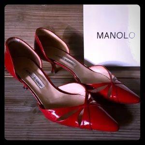 Manolo Blahnik 39 - 8.5 Kitten Heel Pump D'Orsay